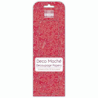 Deco Mache Decoupage Papers: Nordic Snowflakes
