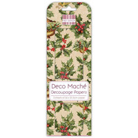 Deco Mache Decoupage Papers: Holly Wreath
