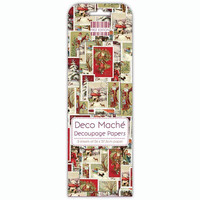 Deco Mache Decoupage Papers: Christmas Stamps