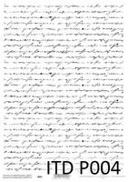 Printed Vellum A4: Black & White Script