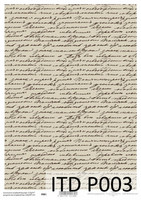 Printed Vellum A4: Vintage Script