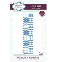 Clean and Simple: Zig Zag Border  -stanssi