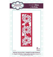Festive Collection: Poinsettia Mini Striplet - stanssisetti VIIMEINEN KAPPALE