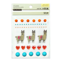 Novelty Bling Stickers: Llama