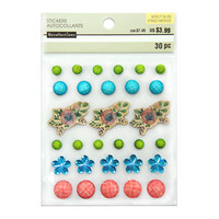 Novelty Bling Stickers: Flowers