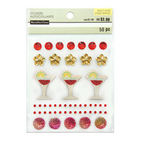 Novelty Bling Stickers: Coctail