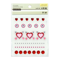 Novelty Bling Stickers: Hearts