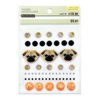 Novelty Bling Stickers: Pug