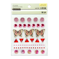 Novelty Bling Stickers: Butterfly