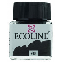 Ecoline Liquid Watercolor: Black 700