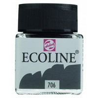 Ecoline Liquid Watercolor: Deep Grey 706