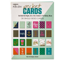 Pocket Cards 3x4 : Be Bold Be Bright