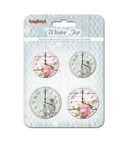 Winter Joy Set of Clocks  -metallikoristeet