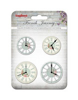 French Journey Set of Clocks  -metallikoristeet