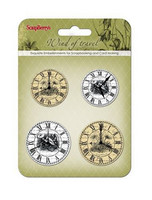 Wind of Travel Set of Clocks 1  -metallikoristeet