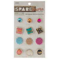 Spare Parts: Pink & Turquoise Brad Assortment