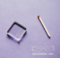 Akryylipalikka 2,5 x 2,5 cm (1x1 tuumaa)
