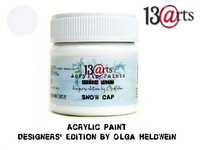 Acrylic Paint 50 ml by Olga Heldwein:  Snow Cap
