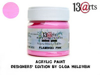 Acrylic Paint 50 ml by Olga Heldwein:  Flamingo Pink