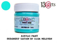 Acrylic Paint 50 ml by Olga Heldwein:  Mermaid Tail