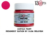 Acrylic Paint 50 ml by Olga Heldwein:  Red Rose