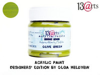 Acrylic Paint 50 ml by Olga Heldwein:  Olive Green