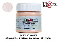 Acrylic Paint 50 ml by Olga Heldwein:  Coral Pink