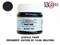 Acrylic Paint 50 ml by Olga Heldwein:  Black Cat