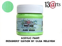 Acrylic Paint 50 ml by Olga Heldwein:  Alien Green