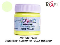 Acrylic Paint 50 ml by Olga Heldwein:  Toxic Yellow