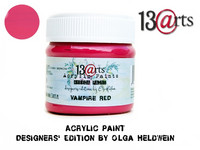 Acrylic Paint 50 ml by Olga Heldwein:  Vampire Red