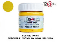 Acrylic Paint 50 ml by Olga Heldwein:  Yellow Amber