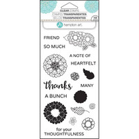 Layering Clear Stamps:  Flower Thanks -kirkas leimasinsetti