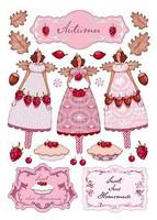 Tilda: Autumn Berry A4 - korttikuva-arkki  2