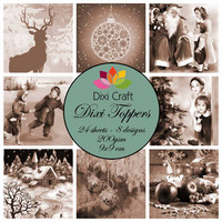 Dixi Toppers: Vintage Christmas