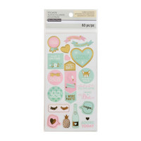 Recollections Planner Stickers:  Uptown Chic Clear Word & Icon Stickers- tarrapakkaus