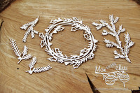 Mon MERRY cheri :  Big Wreath - leikekuvioarkki
