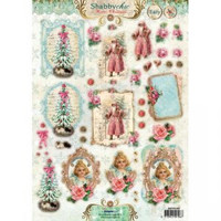 Shabby Chic Winter Christmas  #433 3D -arkki