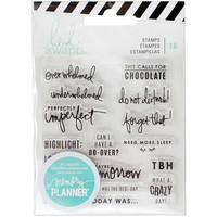 Heidi Swapp Planner Clear Stamps: Day - kirkas leimasinsetti