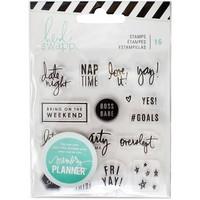 Heidi Swapp Planner Clear Stamps: Weekend - kirkas leimasinsetti
