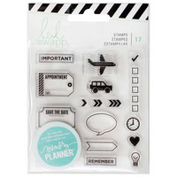 Heidi Swapp Planner Clear Stamps: Icons - kirkas leimasinsetti