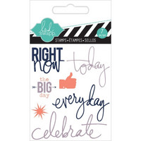 Heidi Swapp Mini Stamps: Right Now  -kirkas leimasinsetti