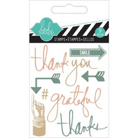 Heidi Swapp Mini Stamps: Thank You  -kirkas leimasinsetti