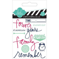 Heidi Swapp Mini Stamps: Remember  -kirkas leimasinsetti
