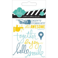 Heidi Swapp Mini Stamps: Together -kirkas leimasinsetti