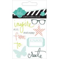 Heidi Swapp Mini Stamps: Inspire -kirkas leimasinsetti