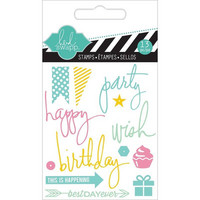 Heidi Swapp Mini Stamps: Party -kirkas leimasinsetti