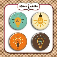 Flair Buttons: Lightbulbs  -  koristeet