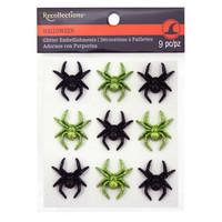 Halloween Glitter Embellishments: Spiders
