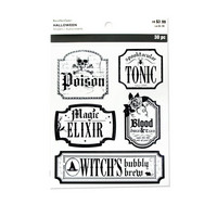 Halloween Stickers: Clear Bottle Labels